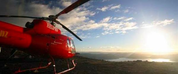 The lodge's helicopter takes guests on unforgettable sightseeing tours.
