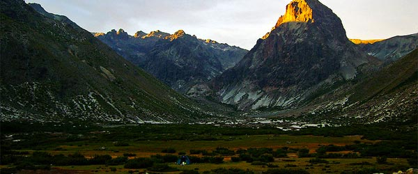 The striking landscape of the Siete Tazas National Park.