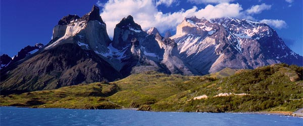 The Cuernos Mountains and Lake Pehoe is one of the iconic views of the park.