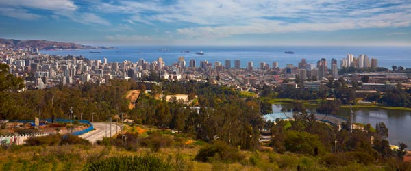 A panoramic view of the lovely Vina del Mar.