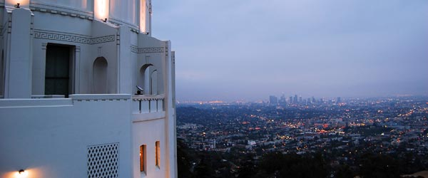 View of Los Angeles from the Griffith Park Observatory.