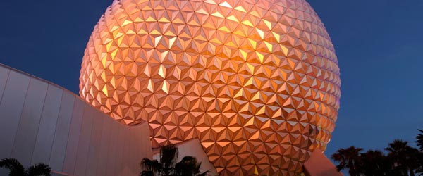 Spaceship Earth, the iconic centerpiece of Epcot.