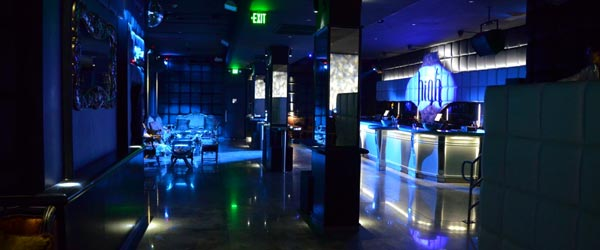 Interior of the new nightlife hot spot High Club on Ocean Drive.