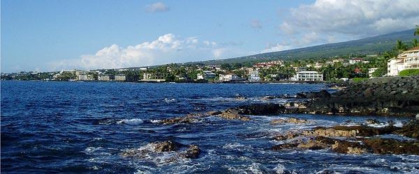 The coast of Hawaii Island.