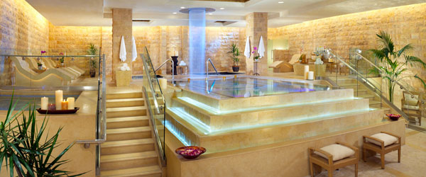The Roman bath decor of the Qua Baths and Spa. Photo credit Caesars Palace.