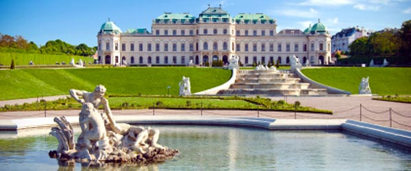 The stunning Belvedere Palace in Vienna.
