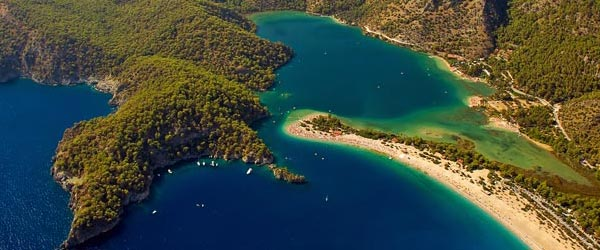The Blue Lagoon at Oludeniz makes for a beautiful view while paragliding.