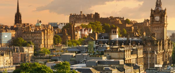 The historic city of Edinburgh.