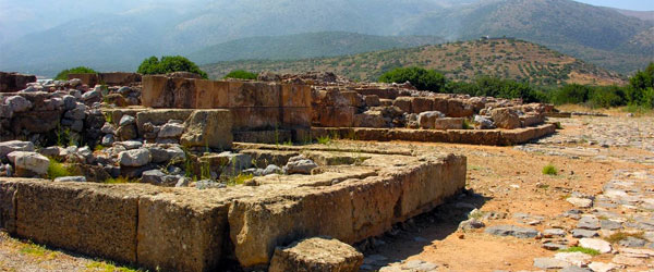 The excavated ruins of the Minoan Palace at Malia.