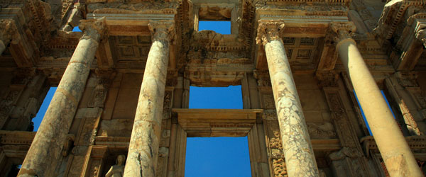 The Library of Celsus is the most famed ruin of Ephesus and dates back 1,900 years.