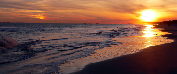 A stunning sunset on the beach at Hilton Head Island. Photo credit Lee Coursey.