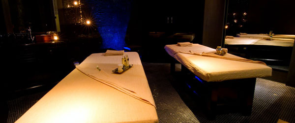 The dimly lit treatment rooms at the Pañpuri Oranic Spa are perfect for relaxation and pampering.