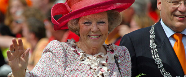 Queen Beatrix of the Netherlands out and about in The Hague.