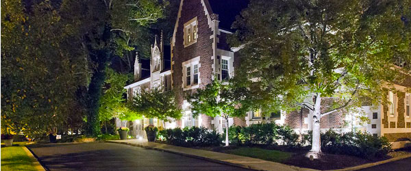 The Glidden House Hotel is housed in a beautifully preserved French Gothic-style mansion.