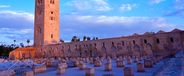 The Koutoubia Mosque was built in the 12th century and towers above the city at 253 ft.