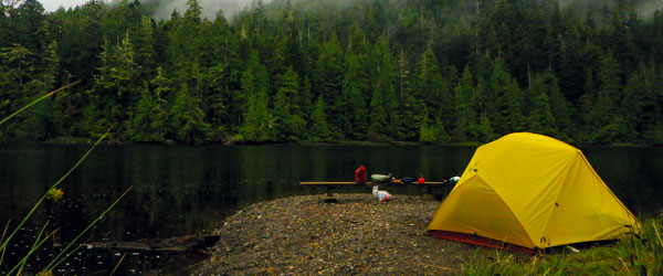 Camping by the water on the North Coast Trail. Photo credit Jordan Mounteer.