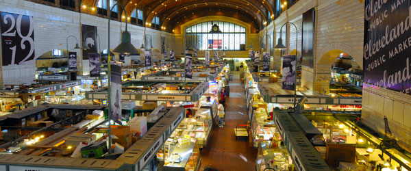 The West Side Market has featured in countless Food Network shows. Photo credit Kenneth Sponsler.