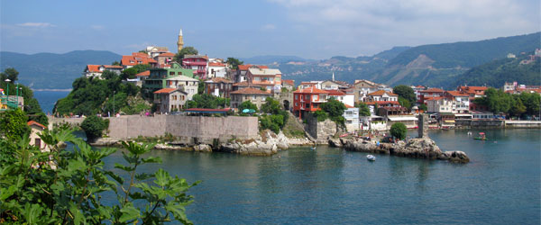 The small, scenic town of Amasra  is halfway between Sinop and Istanbul on the Black Sea Coast.