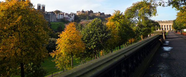 The Princes Street Gardens are a great spot to relax and forget the crowds of the castle.