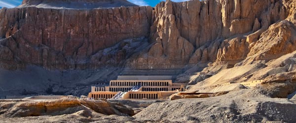 The Mortuary Temple of Queen Hatshepsut, who was one of ancient Egypt's most celebrated rulers.
