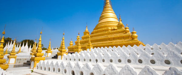 The Golden Pagoda that sits on top of Mandalay Hill.