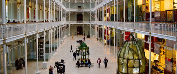 Inside Edinburgh's National Museum of Scotland.