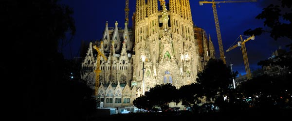 The Sagrada Familia is famed architect Gaudi's Requiem, as it's still under construction more than 100 years later.