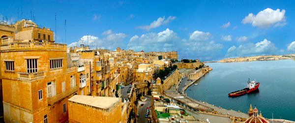 The historic city of Valletta is also home to the main port of Malta.