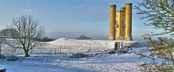 The Broadway Tower juts a further 55-feet from its hilltop situation. Photo credit Nick Garrod.