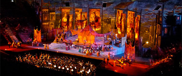 A production of Georges Bizet's Carmen at the Verona Arena. Photo credit Brad and Darren CC BY-SA.