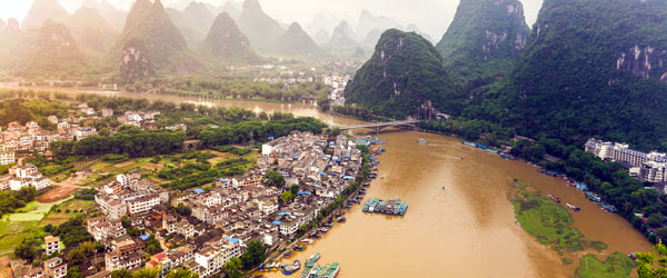 Yangshou and its karst mountains is one of the most famous scenes of rural China.