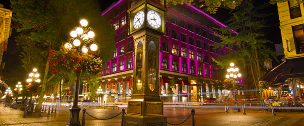 The historic steam clock in Vancouver's Gastown.
