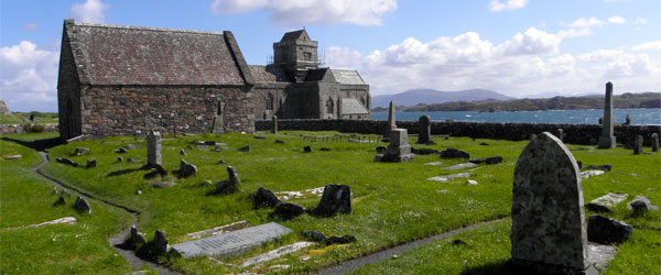 St. Oran's Chapel on the Isle of Iona is a royal burial ground dating back to the 10th century.