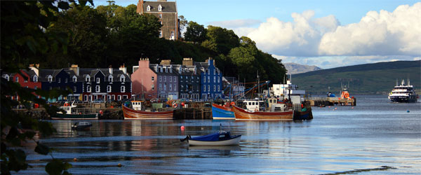 The quaint village of Tobermory is the largest settlement on the Isle of Mull.
