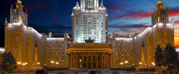 "Moscow State University, Russia's most prestigious school, is housed inside one of the ""Seven Sisters"" skyscrapers."