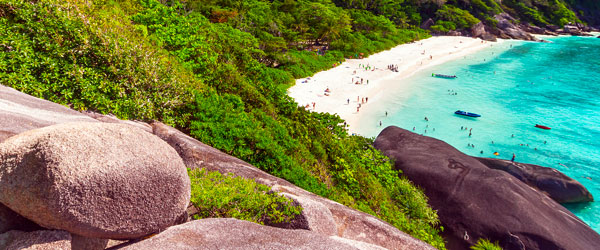 The white-sand beaches of the Similan Islands are as impressive as the wildlife.