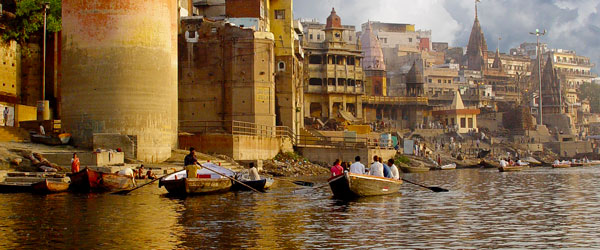Varanasi, on the Ganges River, is the holiest city in all of India for the Hindu and Jain religions.
