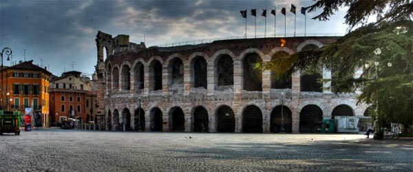 The Verona Arena was built in AD 30 by the Romans and is a premier opera venue.