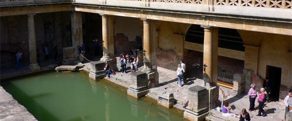 The historic Roman Baths are what gives Bath its distinctive name. Photo credit HeatherOnHerTravels.