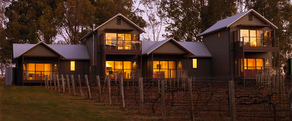 The accommodation at the Hermitage Lodge is secluded and right on a vineyard.
