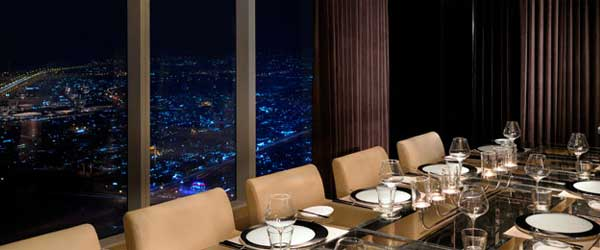 Steaks and an epic view of the Dubai Skyline: now that's a dinner!