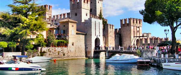 It doesn't get more picturesque than the Sirmione Castle on Lake Garda.