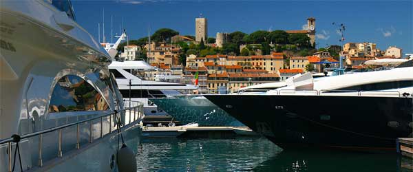 When the rich take their yachts out on the sea, there's a good chance they travel to Cannes in France.
