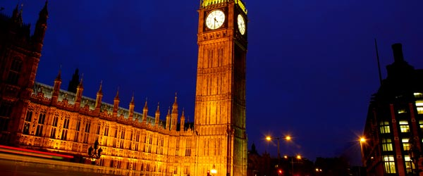 Big Ben and the Westminster Palace are London's best known sights.