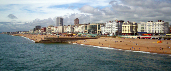 A look at the vibrant and colorful Brighton coastline.