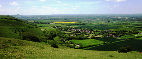 The view from the hills of Devil's Dyke. Photo by MAClarke21 via Flickr.