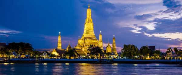 The beautiful temple of Wat Arun on the Chao Phraya River.