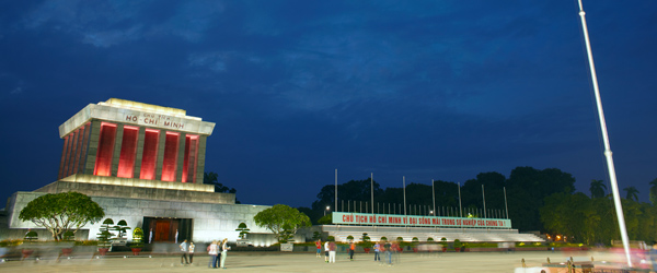 The Ho Chi Minh Mausoleum where the former leader's body is enshrined.