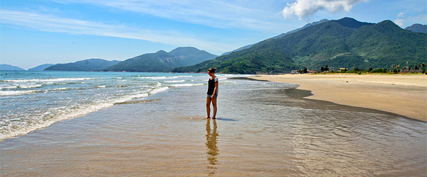 The beautiful Lang Co Beach just outside of Da Nang. Photo credit LisArt.