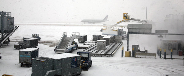 Despite Chicago's snowy conditions, O'Hare actually manages its traffic better in the winter. Photo credit Cliff.